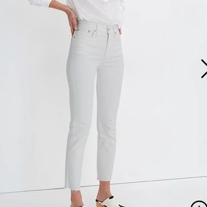 Madewell Perfect Vintage Crop Jeans WHITE